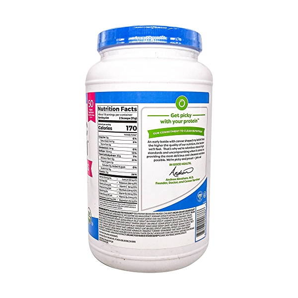 Organic Protein™ + Superfoods Powder - Plant Based Creamy Chocolate Fudge, 2.02 lbs 2