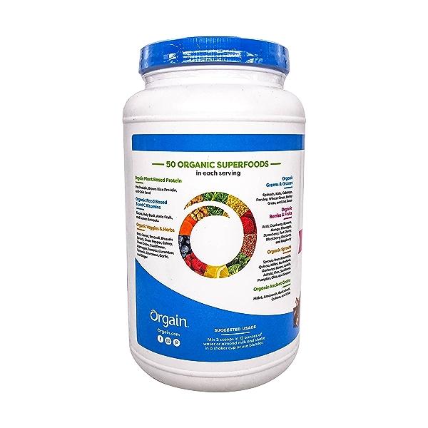 Organic Protein™ + Superfoods Powder - Plant Based Creamy Chocolate Fudge, 2.02 lbs 4
