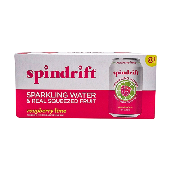 Raspberry Lime Sparkling Water 8 Pack, 96 fl oz 1
