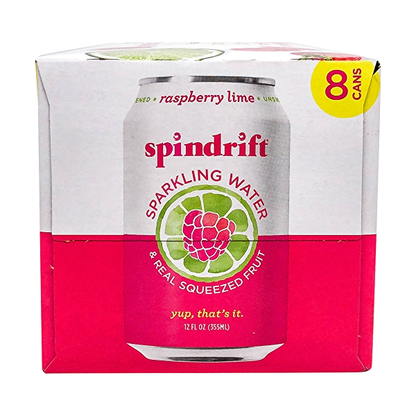 Raspberry Lime Sparkling Water 8 Pack, 96 fl oz 3