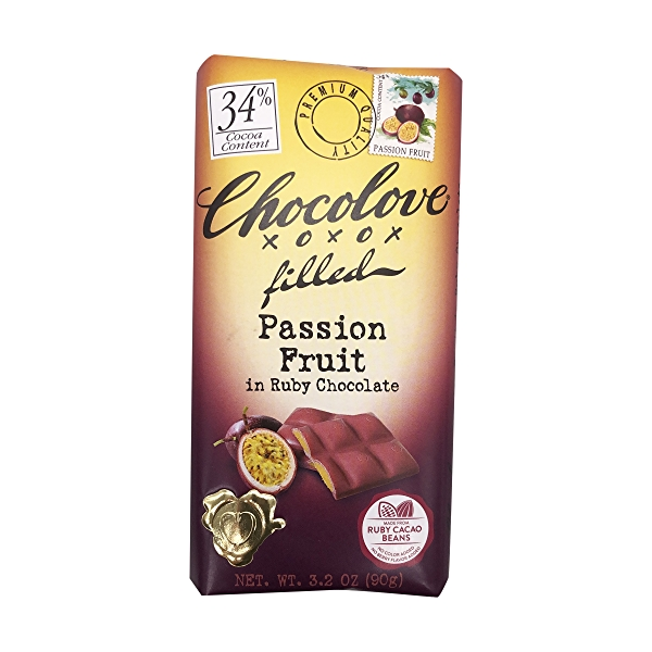 Passion Fruit Filled Ruby Chocolate Bar, 3.2 oz 1
