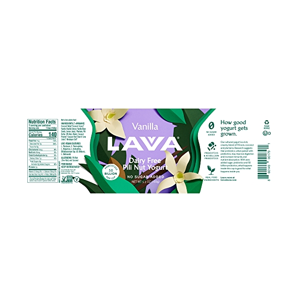 Dairy Free Pili Nut Yogurt Vanilla, 5.3 oz 2