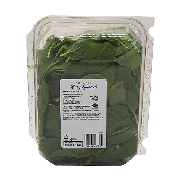 Organic Baby Spinach Salad 2