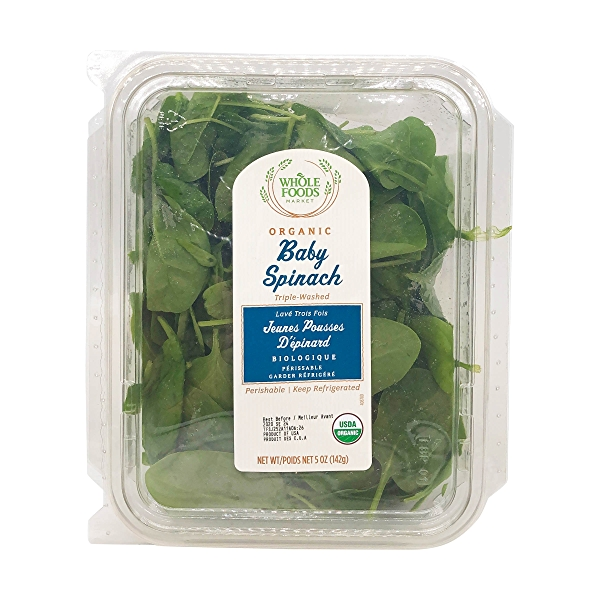 Organic Baby Spinach Salad 1
