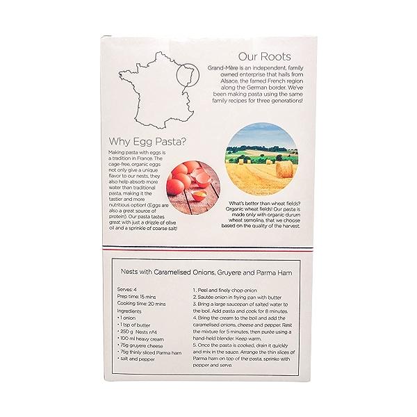 Organic No.4 Bicolor Pasta Nests, 8.8 oz 3