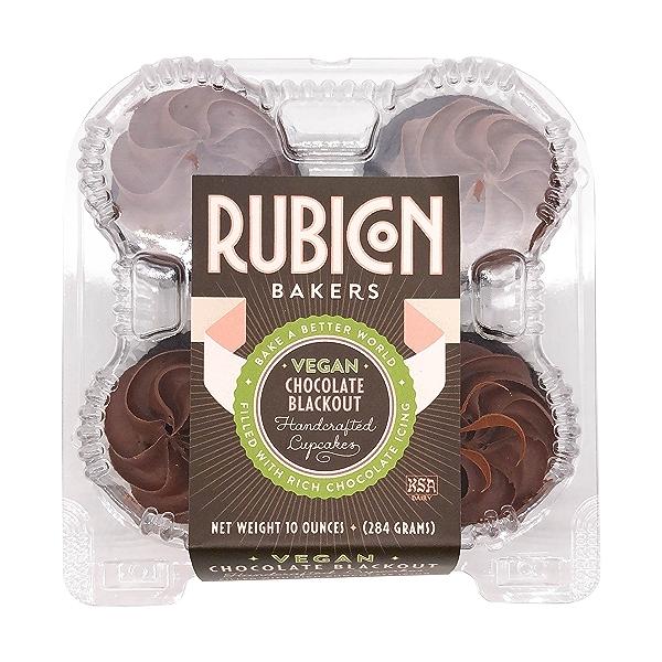 Vegan Chocolate Blackout Cupcakes, 10 oz 1