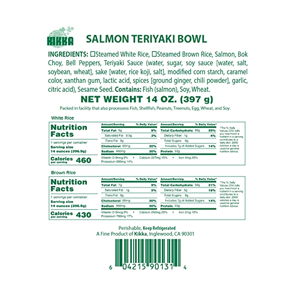 Salmon Teriyaki Bowl, 14 oz 5