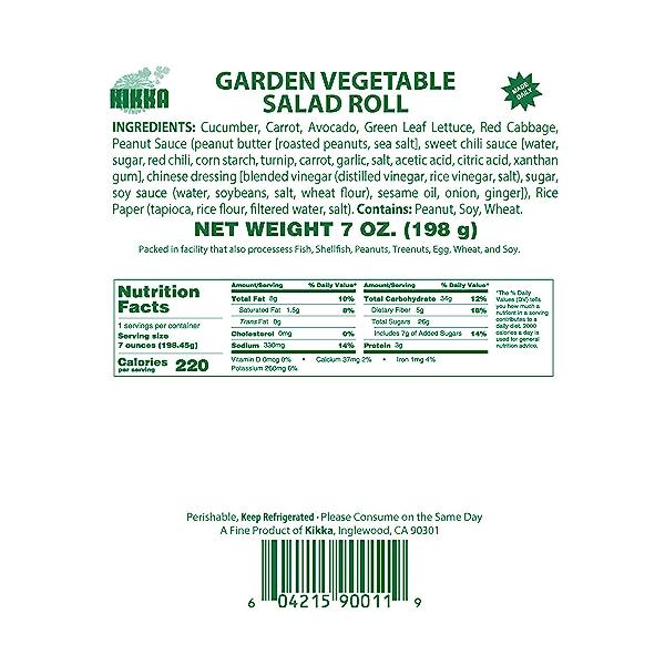 Garden Vegetable Salad Roll, 7 oz 5