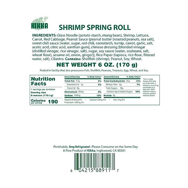 Shrimp Spring Roll, 6 oz 5
