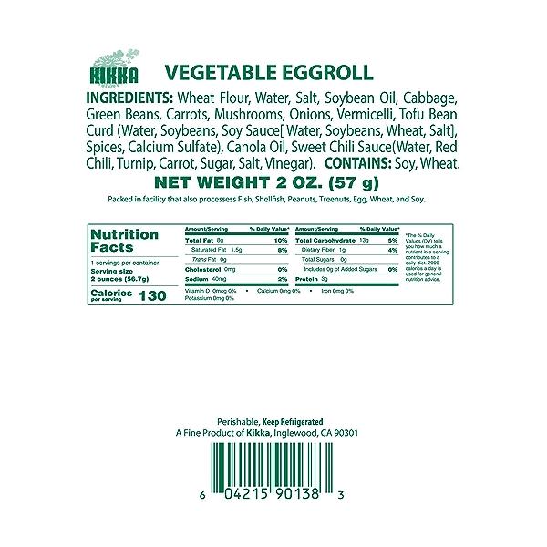 Vegetable Eggroll, 2 oz 5
