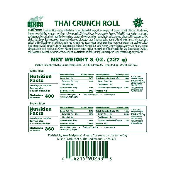 Thai Crunch Roll, 8 oz 5