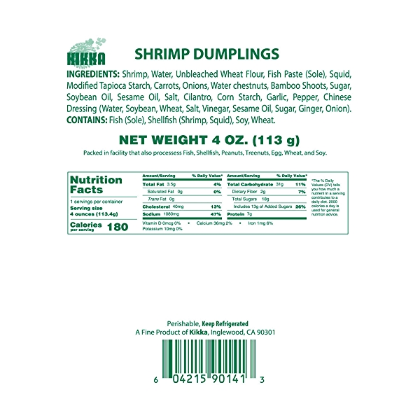Shrimp Dumplings, 4 oz 5