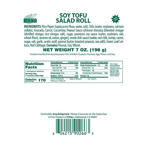 Soy Tofu Salad Roll, 7 oz 5