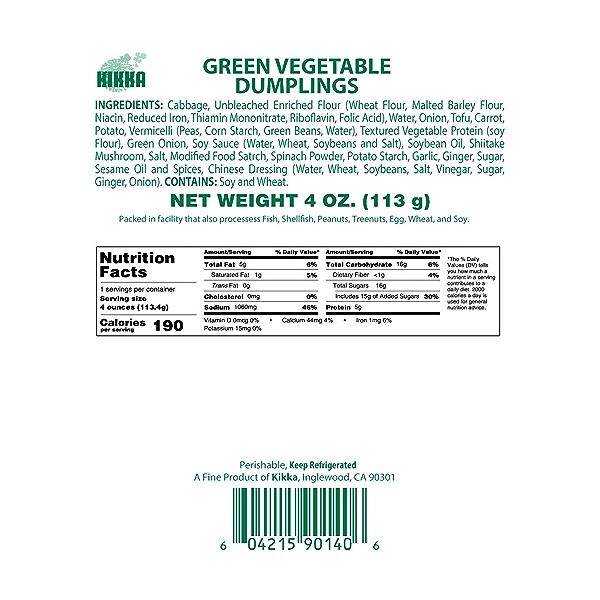 Green Veggie Dumplings, 4 oz 5