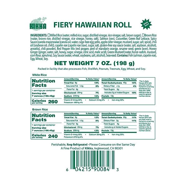 Fiery Hawaiian Roll, 7 oz 5