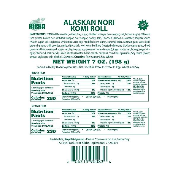 Alaskan Nori Komi Roll, 7 oz 5