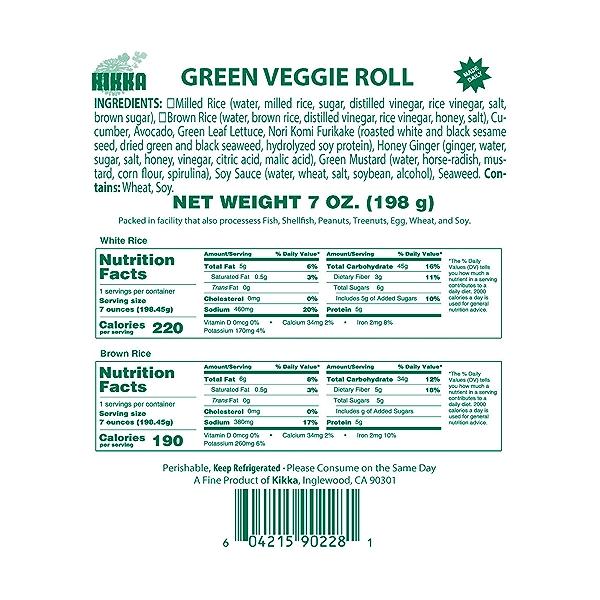 Green Veggie Roll, 7 oz 5