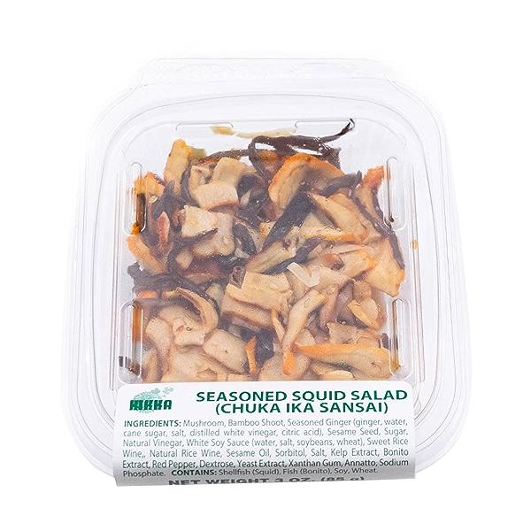 Seasoned Squid Salad, 3 oz 3