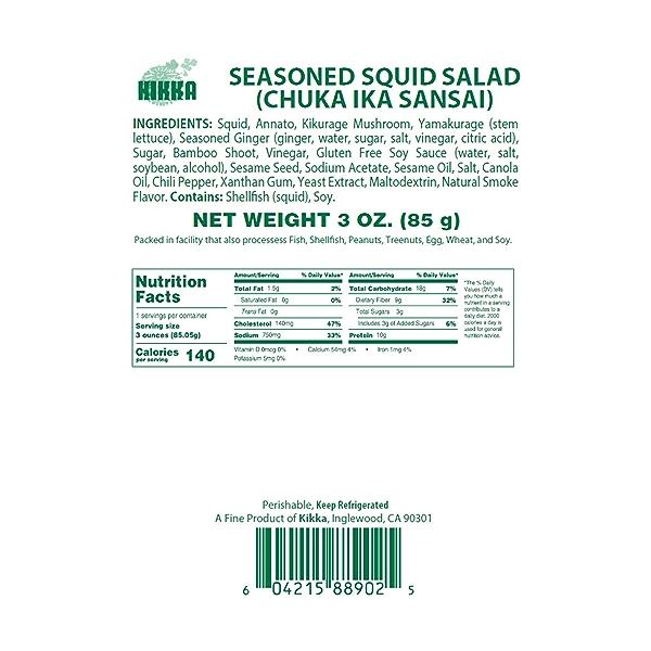Seasoned Squid Salad, 3 oz 5