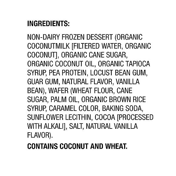Dessert Coconut Milk Vanilla Sandwich Mini 8 Count, 9.2 fl oz 2