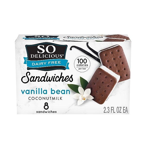 Dessert Coconut Milk Vanilla Sandwich Mini 8 Count, 9.2 fl oz 1