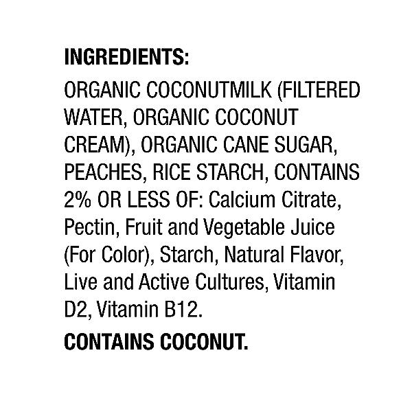 Yogurt Nondairy Coconut Milk Peach, 5.3 oz 2