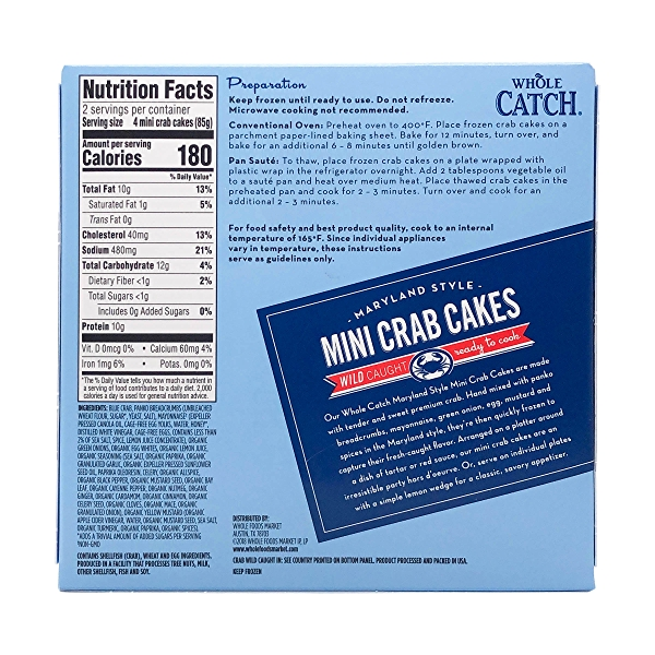 Maryland Style Mini Catch Crab Cakes 8 Count 2