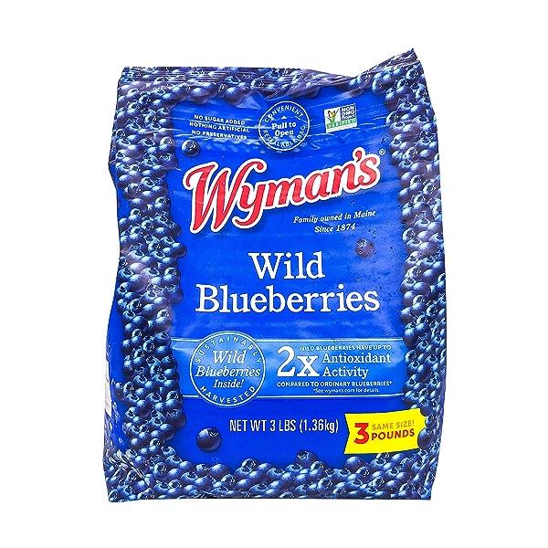 Wyman's Fresh Frozen Wild Blueberries, 3 lb 1