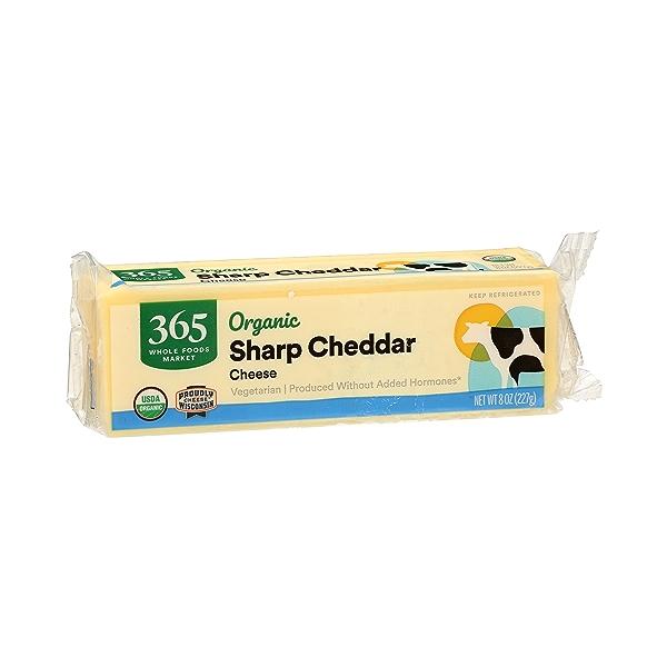 Organic Cheese Bar, Sharp Cheddar, 8 oz 2