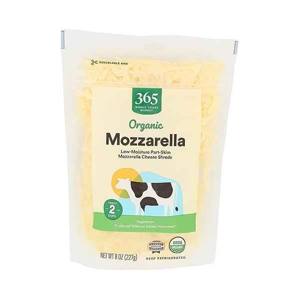 Organic Cheese Shreds, Mozzarella 1