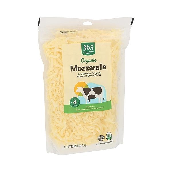 Organic Cheese Shreds, Mozzarella 2