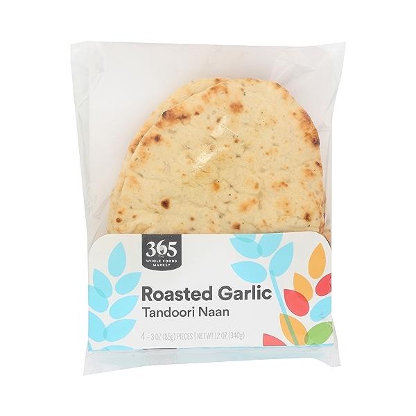 Tandoori Naan, Roasted Garlic (4 - 3oz Pieces) 3