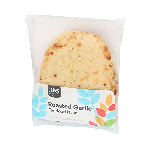 Tandoori Naan, Roasted Garlic (4 - 3oz Pieces) 4