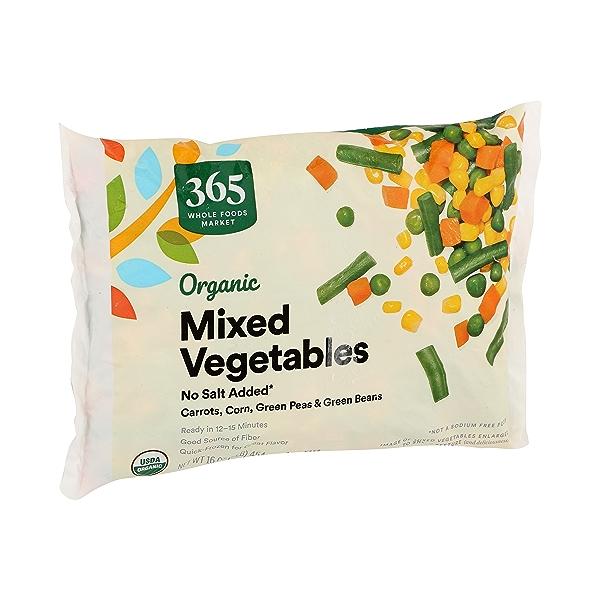 Frozen Organic Vegetables, Mixed - No Salt Added 2