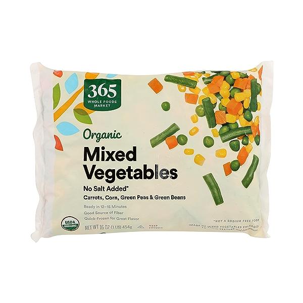 Frozen Organic Vegetables, Mixed - No Salt Added 3