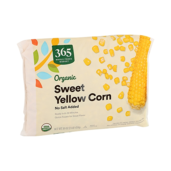 Frozen Organic Vegetables, Sweet Yellow Corn - No Salt Added 2