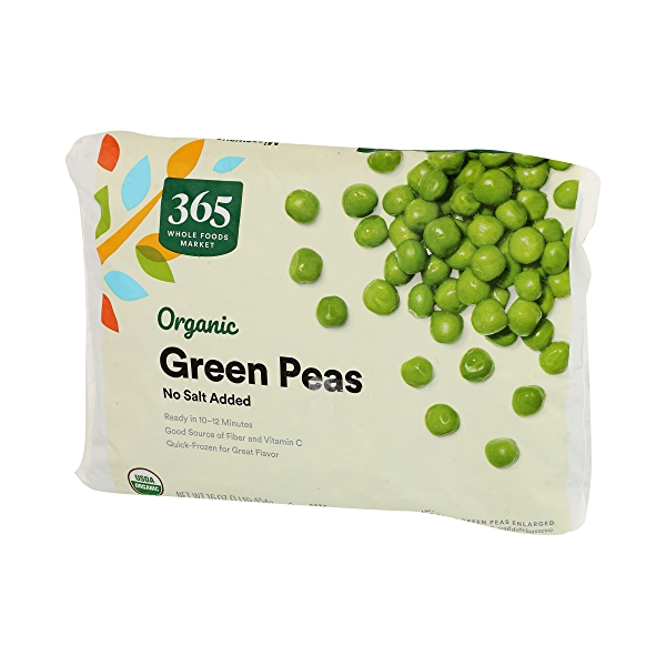 Frozen Organic Vegetables, Green Peas - No Salt Added 4