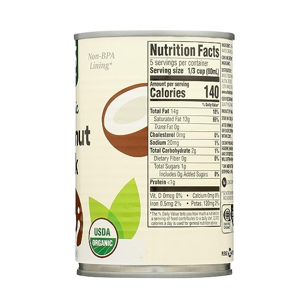 Organic Coconut Milk, 13.5 fl oz 8