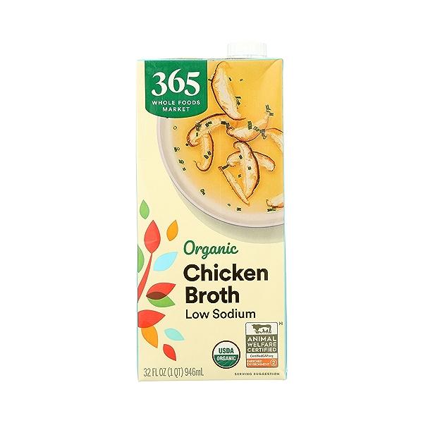Organic Broth, Chicken - Low Sodium, 32 fl oz 3