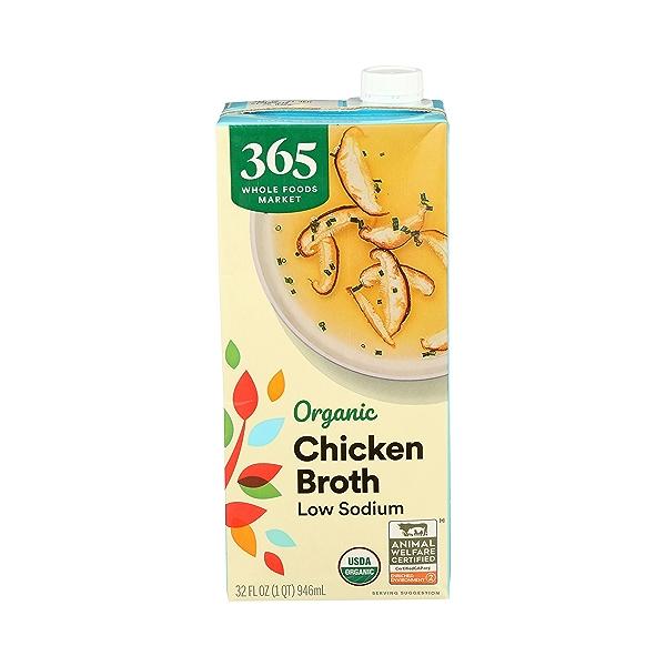 Organic Broth, Chicken - Low Sodium, 32 fl oz 1