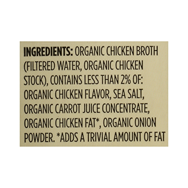 Organic Broth, Chicken - Low Sodium, 32 fl oz 12