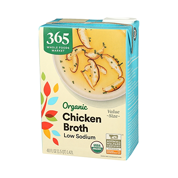 Organic Broth, Chicken - Low Sodium, 48 fl oz 4