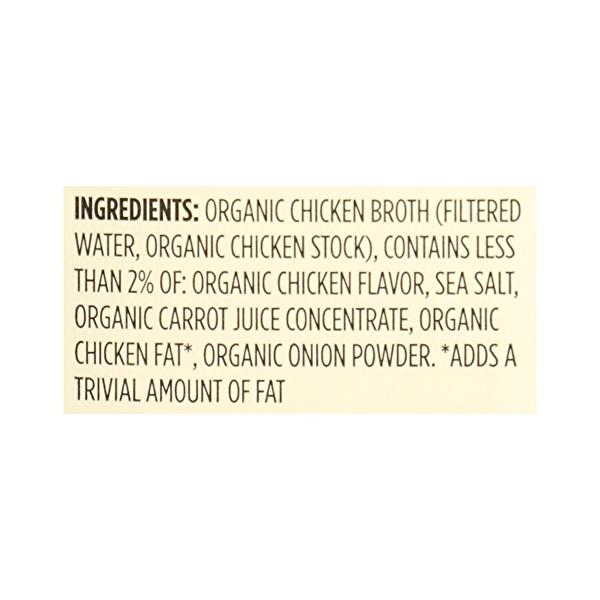 Organic Broth, Chicken - Low Sodium, 48 fl oz 12