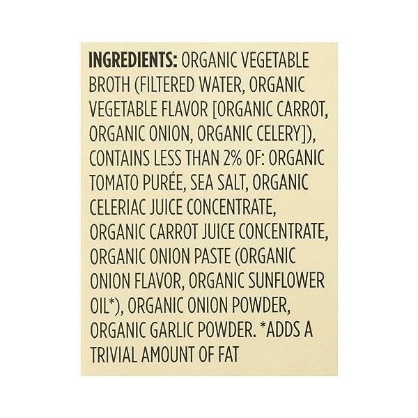 Organic Broth, Vegetable, 32 fl oz 12