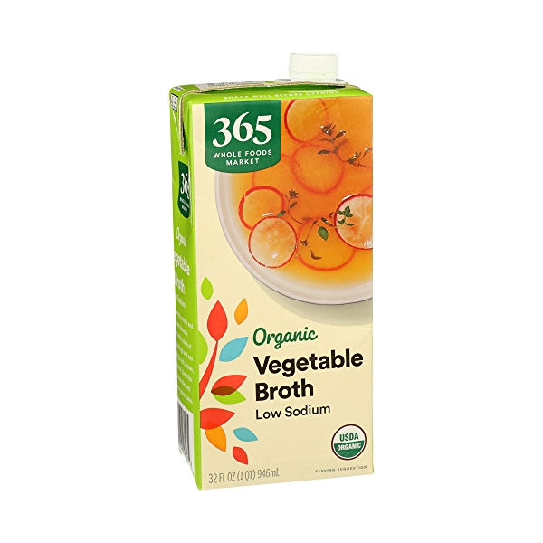 Organic Broth, Vegetable - Low Sodium, 32 fl oz 2
