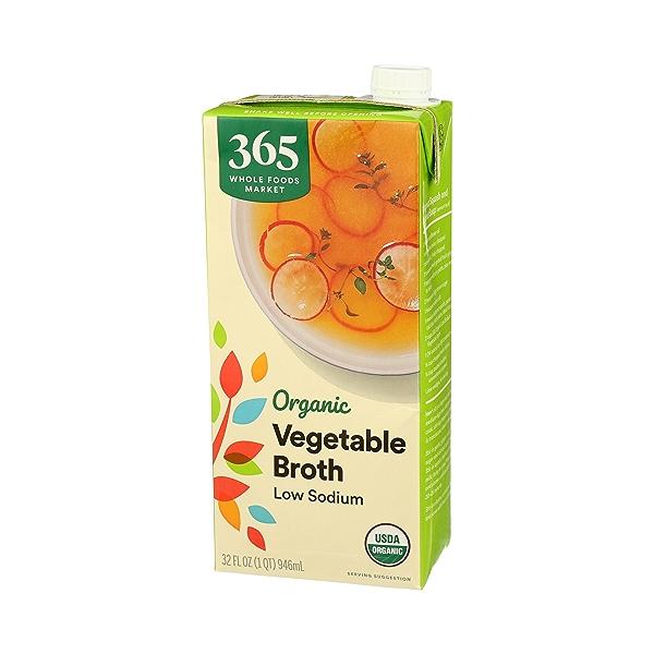 Organic Broth, Vegetable - Low Sodium, 32 fl oz 4