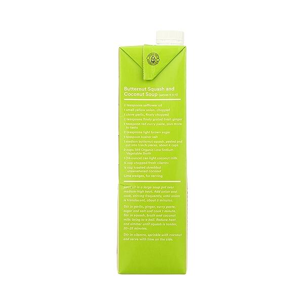 Organic Broth, Vegetable - Low Sodium, 32 fl oz 8