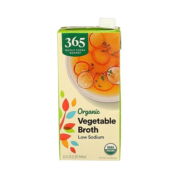 Organic Broth, Vegetable - Low Sodium, 32 fl oz 1