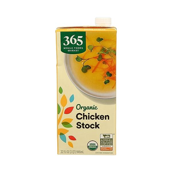 Organic Stock, Chicken, 32 fl oz 1