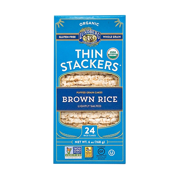 Organic Lightly Salted Brown Rice Thin Stackers, 6 oz 1